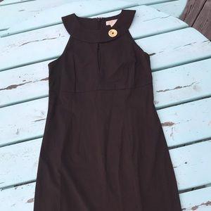 MK Brown Keyhole Midi Dress